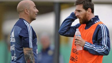 Messi bråkar med Sampaoli