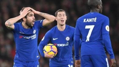 Hazard Kante Fabregas Chelsea Barcelona