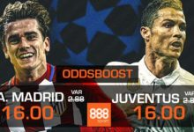 Atletico Madrid vs Juventus oddsboost