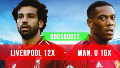 Man U vs Liverpool oddsboost