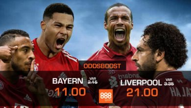 Bayern vs Liverpool oddsboost