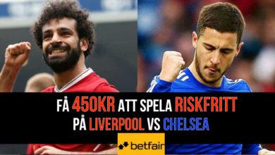 Riksfritt odds Liverpool vs Chelsea
