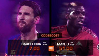 Oddsboost Barcelona vs Manchester United